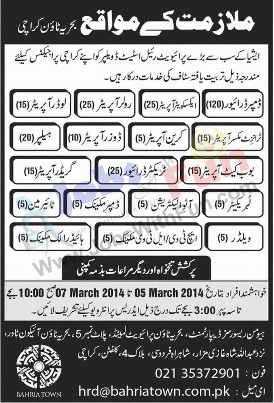 job opportunities in private real estate company bahria town job opportunities in private real estate company bahria town karachi jobs jobs fun com